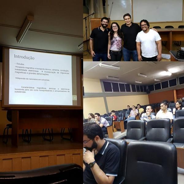 """Defesa de qualificação da estudante Débora Freitas: """"Difusão da Água em Nanotubos de Carbono Sob Efeito de Campo Elétrico"""""""