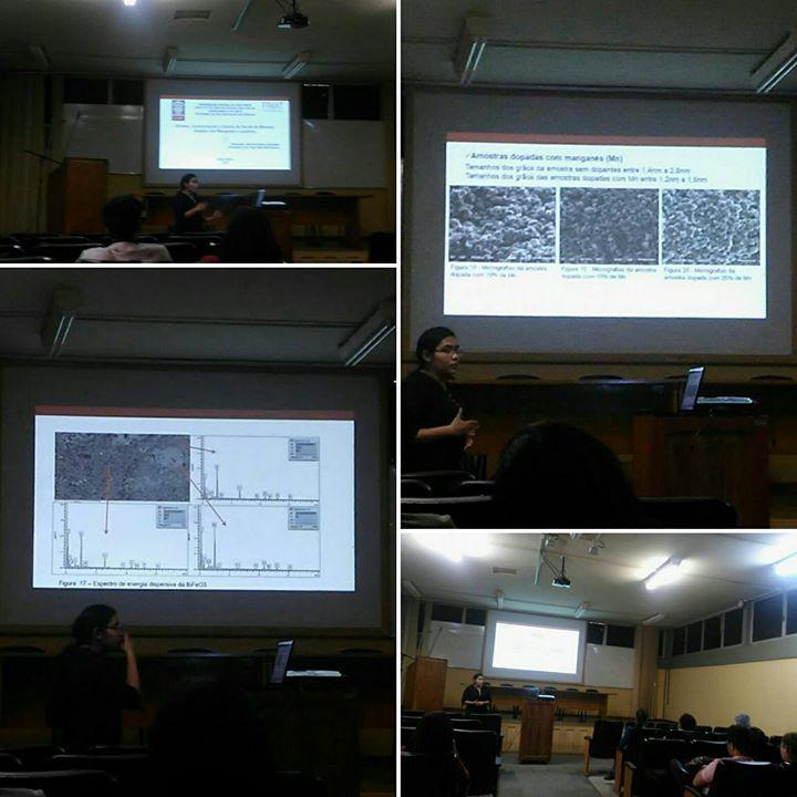 """Qualificação da estudante Daiandra Guimarães """"Síntese, Caracterização e estudo da ferrita de bismuto dopada com maganês"""