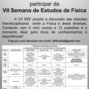 VII SEMANA DE ESTUDOS DE FÍSICA DA UFOP