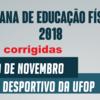 PROGRAMAÇÃO SEMANA DE EDUCAÇÃO FÍSICA – 2018.2